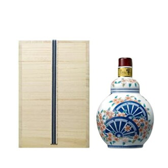 Suntory whisky Hibiki 21 years special bottle collection 2013 Arita porcelain overglaze cherry a court carriage sentence gourd-shaped bottle