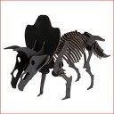 ハコモ BLACK LABEL トリケラトプス (ブラック)ダンボール おもちゃ 知育玩具 模型 インテリアホビー 趣味 コレクション