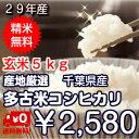 【29年産】千葉県産 コシヒカリ つきたて白米 5kg生産者...