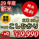 【29年産】新米入荷!千葉県産 コシヒカリ玄米30kg(10kg×3)送料無料♪精米無料♪小分