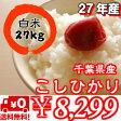 【27年産】千葉県産菜の花こしひかりつきたて白米27kg(9kg×3)(玄米30kg精米で白米27kgになります)※送料無料地域に除外があります※北海道・九州:+600円532P15May16