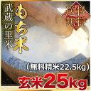 【新入荷】武蔵の里米 もち米 玄米25kg(精米無料)(農家...