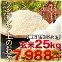 武蔵の里米 ワンランク上のお米 玄米25kg(精米無料)(農...