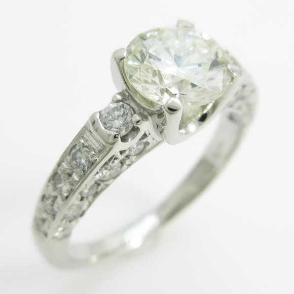 プラチナダイヤモンドリング 1.008ct。L・SI2・VERYGOOD【】