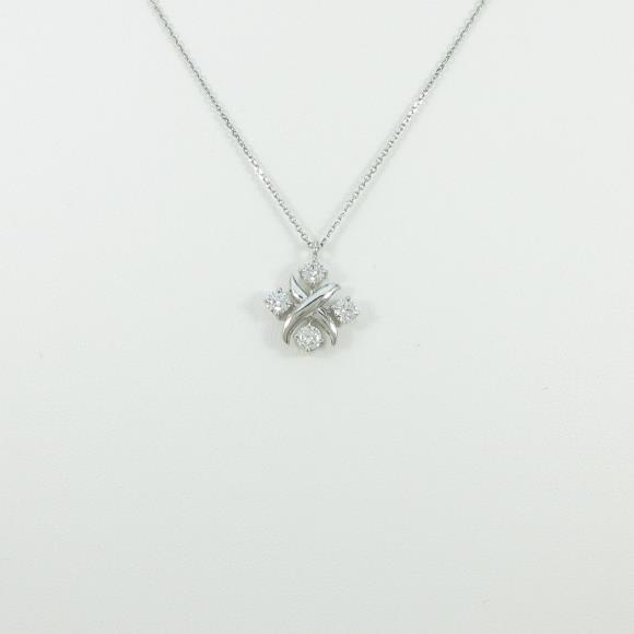 プラチナダイヤモンドネックレス 0.505ct・F・SI2・VERYGOOD-GOOD【新品】 【幅広い選択】