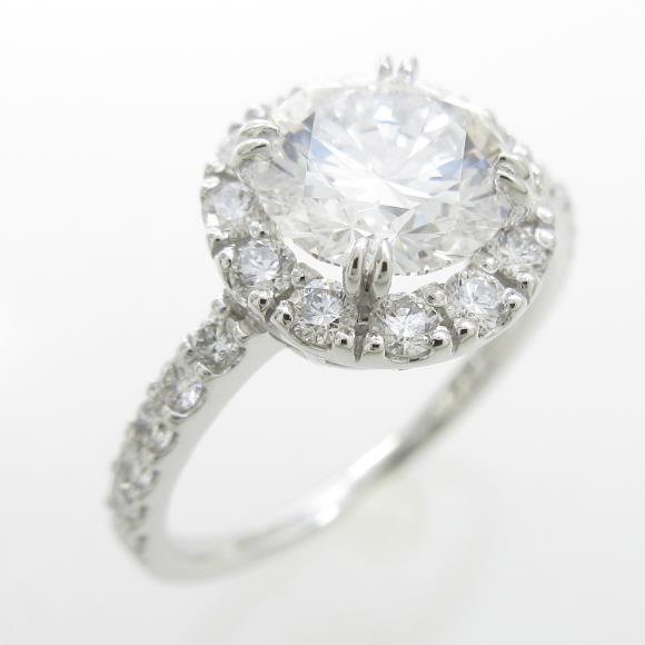 プラチナダイヤモンドリング 1.526ct・D・VVS1・3EXT【中古】