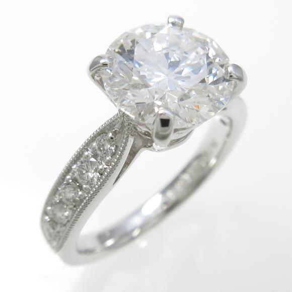 プラチナダイヤモンドリング 2.164ct・E・SI1・EXCELLENT【中古】 【店頭受取対応商品】