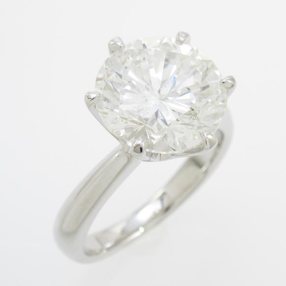【リメイク】プラチナダイヤモンドリング 4.283ct・H・I1・GOOD【中古】
