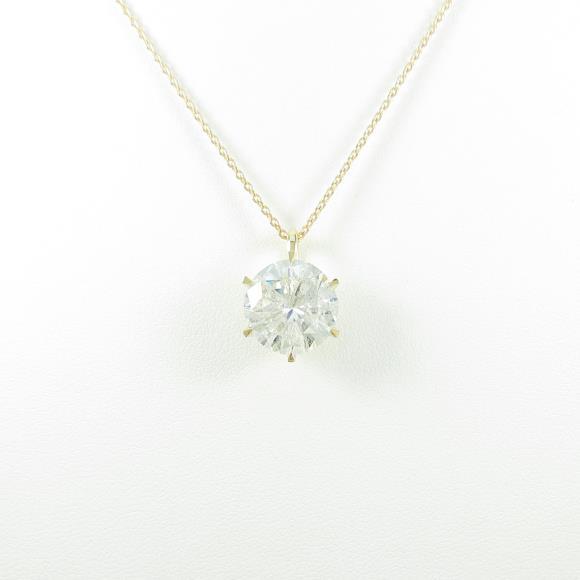 【リメイク】K18YG ダイヤモンドネックレス 5.056ct・J・I1・GOOD【中古】 【店頭受取対応商品】