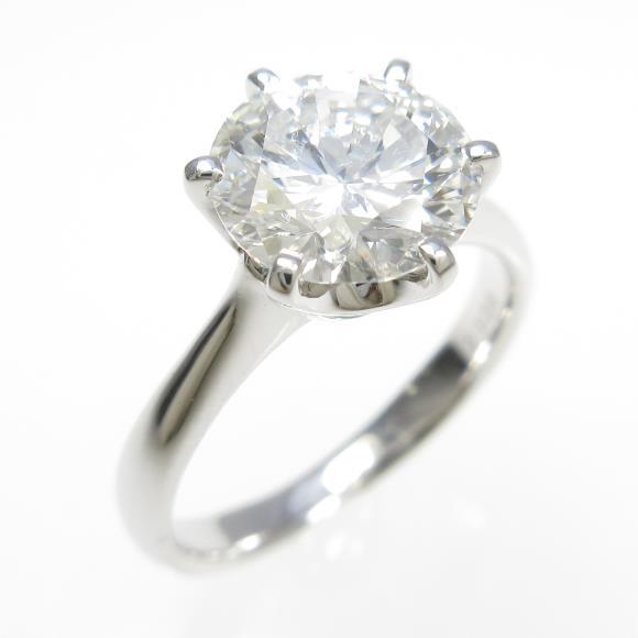 【リメイク】プラチナダイヤモンドリング 2.038ct・F・SI1・VERYGOOD【中古】