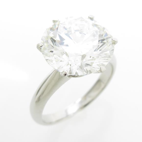プラチナダイヤモンドリング 5.105ct・I・VS1・VERYGOOD【中古】