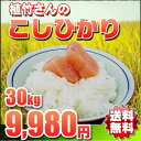 米 30kg 送料無料 こしひかり 一等米 28年 埼玉県 植竹さん 玄米 精米無料(白米27kg)