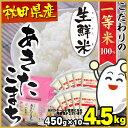 あきたこまち 4.5kg 送料無料 秋田県産 生鮮米 白米≪...