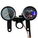 スピードメーター タコメーター 12V 160km / h 13000rpm 機械式 電気式 バイク用 汎用 メーター 最大速度表示160km / h LED照明 LED バックラ...