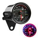 スピードメーター 機械式 DC 12V 160km / h バイク用 汎用 メーター 最大速度表示160km / h LED照明 LED バックライト バイクメーター インジケータ...