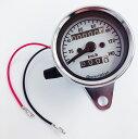 スピードメーター 機械式 12V 140km / h バイク用 汎用 メーター 最大速度表示140 / h LED照明 LED バックライト バイクメーター インジケーター 金属製...
