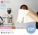 10枚セット 特岡生地 無地 白 手ぬぐい 日本製 綿100% シンプル 白地 てぬぐい ふきん 手拭い TE-7032-08