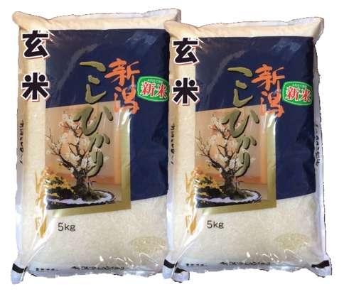 【30年産】【玄米】新潟県産特選コシヒカリ10kg(5kg×2袋)【あす楽対応】