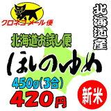 【26年産】【メール便】北海道米ほしのゆめ450g【新米】