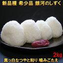 米 【送料無料】 銀河のしずく 2kg 白米 玄米 分づき米も可 令和元年産 岩手県産 新品種 発送日当日精米 お1人様12個まで