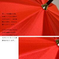 【送料無料】甲州織傘「aka」55cm/12本骨【女性/長傘】