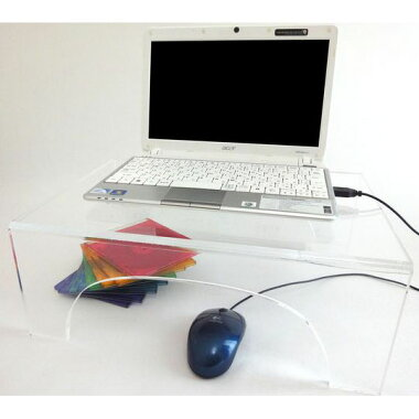 ラップトップPC用透明アクリルテーブル