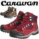キャラバンC1-02SCRVN0010106レディース/女性用サイズ登山靴レッドブラウンネイビー