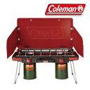 コールマン 取寄 ツーバーナー CLMN2000021950 パワーハウスLP ツーバーナーストーブ (レッド)【コンロ】【ガス】【キャンプ】