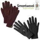 スマートウール ライナーグローブ SW65338 ユニセックス/男女兼用 手袋 Liner Gloves ブラック フィグ 【ゆうパケットOK】