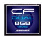 グリーンハウス UDMA対応の233倍速コンパクトフラッシュ 8GB GH-CF8GD