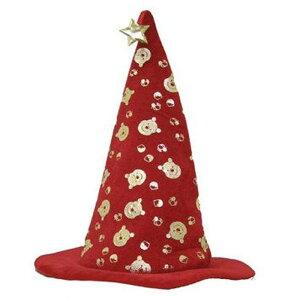 【アウトレット(保証なし)】くまのプーさんハット(RED)DisneyディズニーPOOHキッズ向け子供向け帽子HAT仮装変装魔法使いキャップハロウィンHALLOWEENルービーズジャパン802510