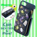 iPhone7対応 ディズニー iCoin BACK COVER(モンスターズインク)コインケース一体型 Disney MonstersINC キャラクター サンクレスト iP7-DN38