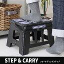 【あす楽 送料無料】STEP CARRY フォールディングステップ 踏み台 ステップ 台 腰掛 折りたたみ コンパクト 耐荷重150kg 現代百貨 A153