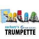 ソックス 靴下 ベビー靴下 0〜12ヶ月 7〜10cm TRUMPETTE ボーイズベビーソックス6足セット ZACHARYS トランペット 男の子 おとこのこ BABYSOCKS 赤ちゃん用靴下 出産祝い ギフトBOX入 TRUMPETTE TRM114