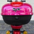 【代引不可】電動スクーター bycle 専用リアボックス バイクルオプション品 ヘルメットや荷物を安心して収納 チェリーピンク バイクル BYC802-04