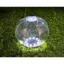 ビーチボールのようにふくらませる防水LEDソーラーランタン クリア グリーンハウス GH-LED10SLA-CL