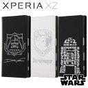 Xperia XZ SO-01J/SOV34 エクスペリアXZ ケース/カバー STAR WARS スター・ウォーズ 手帳型ケース ホットスタンプ レイアウト RT-RSWXPXZI