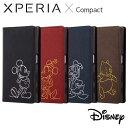 Xperia X Compact SO-02J エクスペリアXコンパクト ケース/カバー ディズニー 手帳型ケース ホットスタンプ ワンポイント レイアウト RT-RDXPXCI