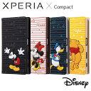 Xperia X Compact SO-02J エクスペリアXコンパクト ケース/カバー Disney ディズニーキャラクター 手帳型ケース スタンディング カーシヴ レイアウト RT-RDXPXCT