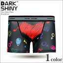 【DARK SHINY ダークシャイニー】ボクサーパンツ Heart&Love メンズ ブランド 【ショート】【TRUNK】Boxer pants mens 男性下着 2015春..