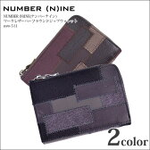 【ナンバーナイン NUMBER NINE】NUMBER (N)INE(ナンバーナイン) パッチワークレザーハーフラウンドジップウォレット nsw-511【半額商品】