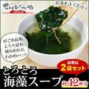 【1000円ポッキリ】とろとろ海藻スープ 2袋セット がごめ昆布・とろろ昆布・刻みめ