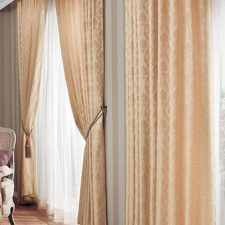 カーテン オーダーカーテン クラシック 東リ プラスボヌール KTB5063~KTB5064 ソフトプリーツ加工(SL)約1.5倍ヒダ 幅201~300cm×丈221~240cm 光沢糸のアクセントが光る立涌の柄。使いやすいソフトクラシックなオーダーカーテンです。複雑な