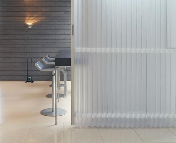 TOSO アコーディオンドア(アコーディオンカーテン) クローザーエクセル ストリーム 幅301〜330cm×丈191〜200cm