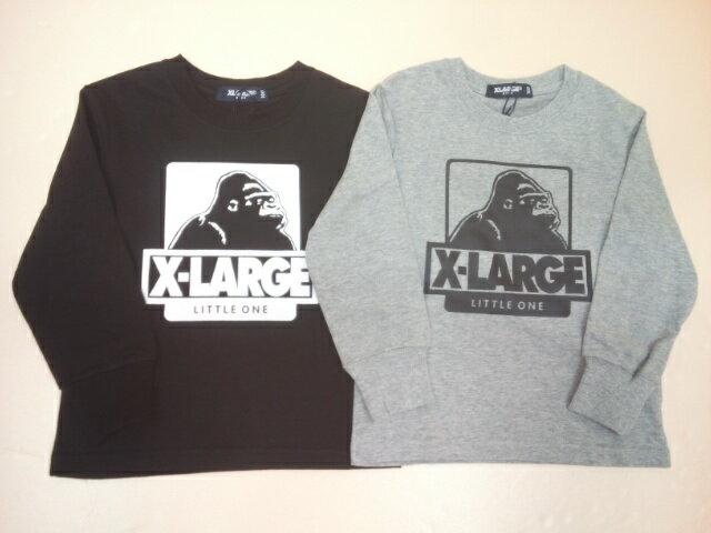 セールX-LARGEKIDS(エクストララージキッズ)袖リブOGゴリラロゴプリント長袖Tシャツ