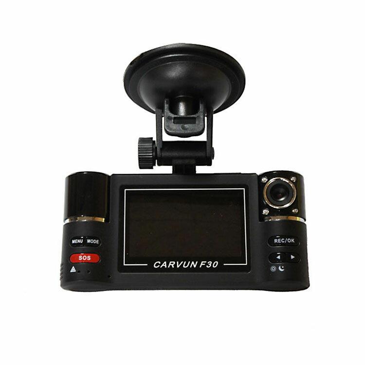 ドライブレコーダー前後2カメラで常時録画赤外線LED4灯繰返し録画のドライブレコーダ上書き禁止保存機