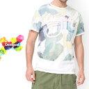 セール SALE 50%off メンズ Desigual デシグアル ファッション ミドル Tシャツ カットソー 水彩 インク インポート 輸入【ホワイト】【S/M/L/XL/XXL/大きいサイズ】【74T14E6】