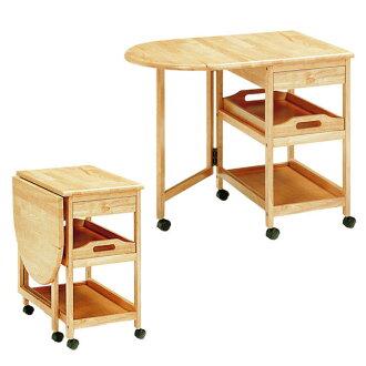 [郵費免費][木製]有有廚房手推車[有桌子][托盤有托盤]/手推車廚房手推車廚房收藏收藏桌子的托盤的手推車廚房板框擱板清理整理整頓便利整理的方法廚房簡單