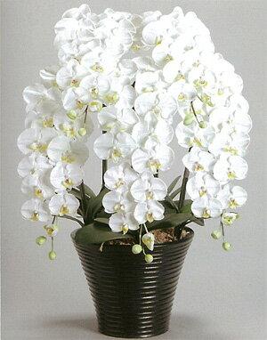 【送料無料】【光触媒】胡蝶蘭LL 7本立ち 驚くほど完成度の高い光触媒の造花です。贈答用としても大変喜ばれます。リビングなどのインテリアにおすすめです。
