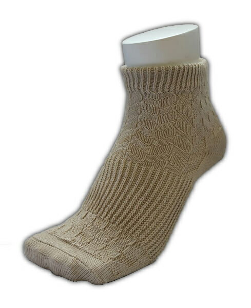 And was a rock bath processing and far red processing ★ cover (sand Beige) 2 toe socks